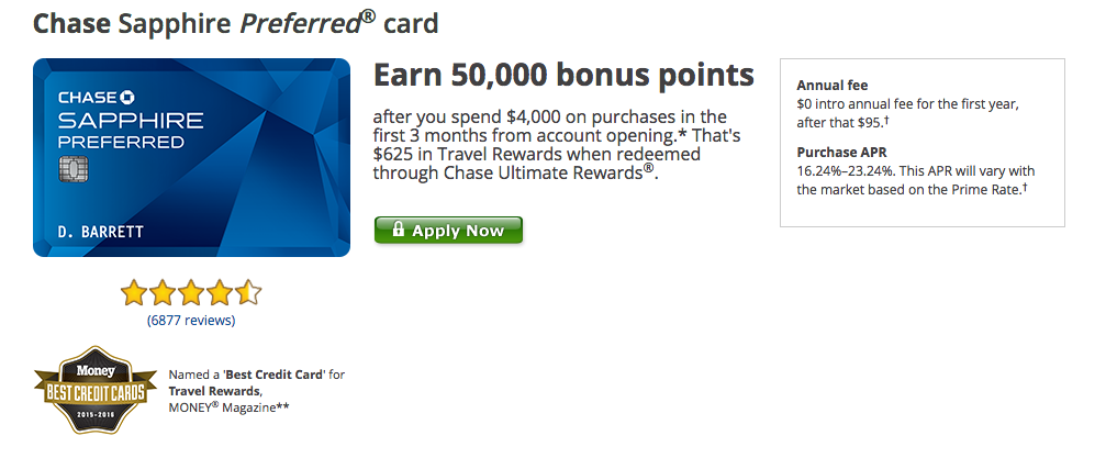 travel for free chase sapphire preferred