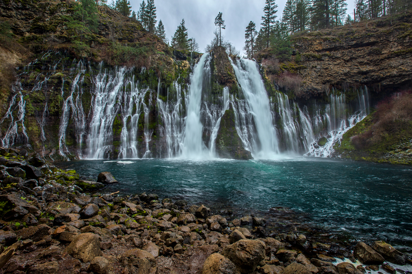 A Chilly Winter Morning at Burney Falls | Shasta County California