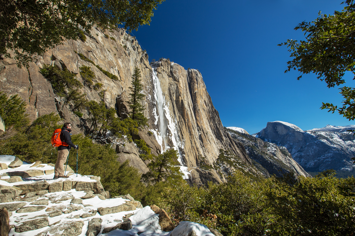 Hiking to Upper Yosemite Falls in Winter | Yosemite National Park