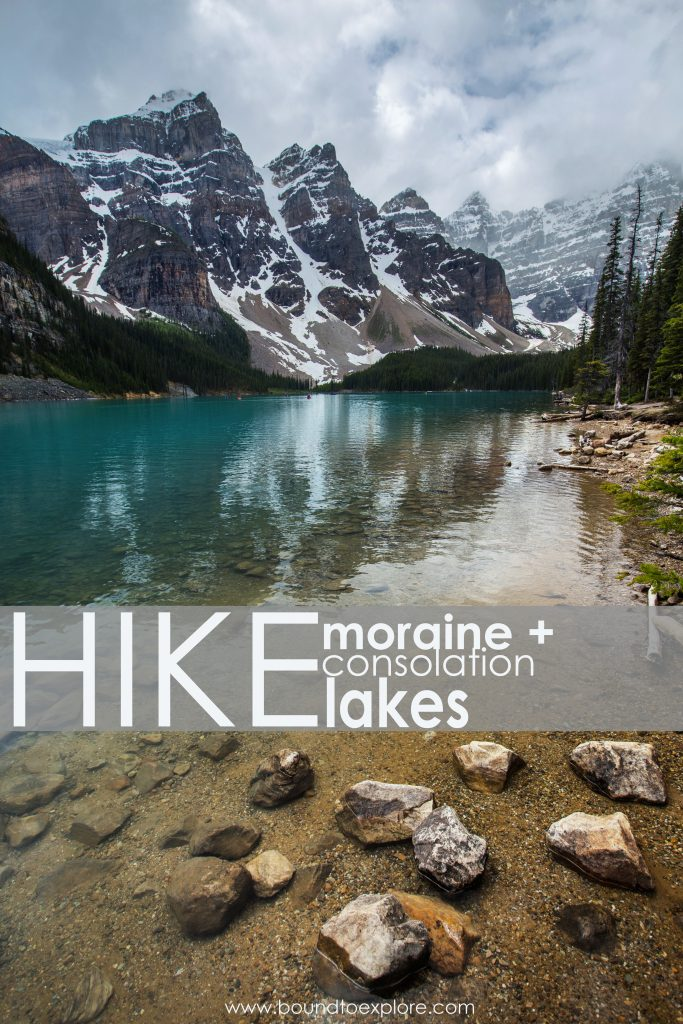 Hiking to Moraine and Consolation Lakes