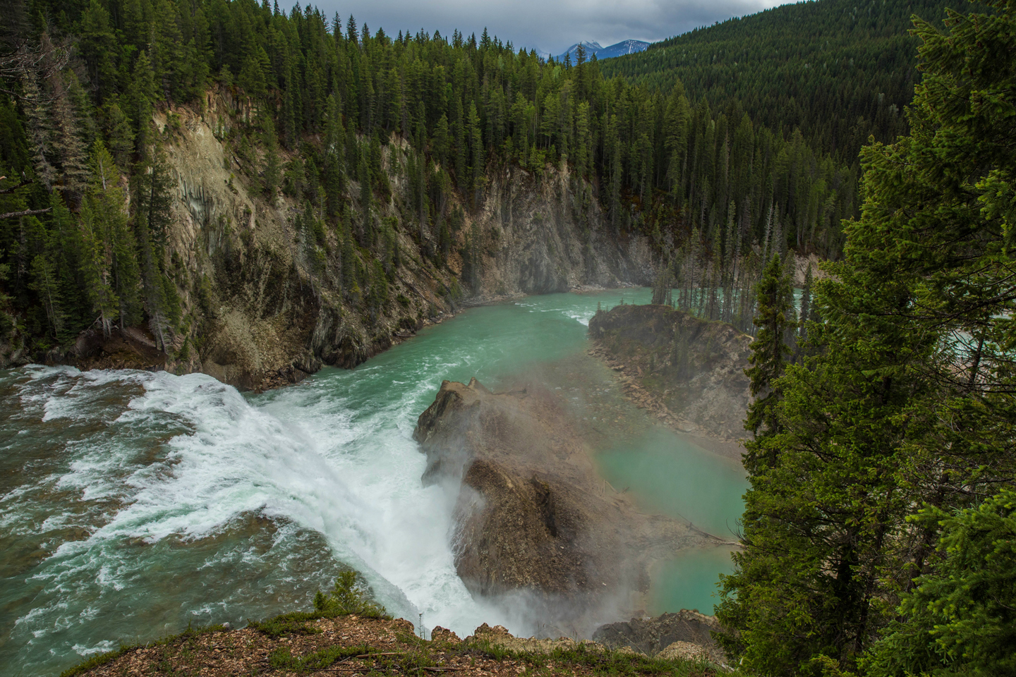 Hiking to Wapta Falls